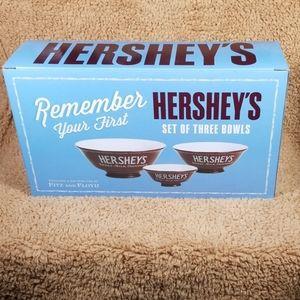 Set of Three Hershey's Chocolate Bowls